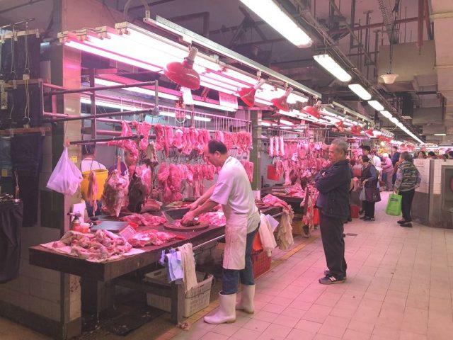 土瓜灣街市肉売り場の画像